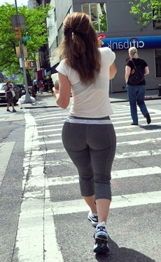 Athletic girls in leggings,..